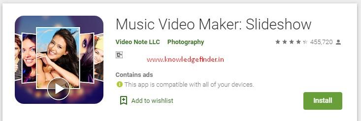 No. 1 Music Video Maker: Slideshow