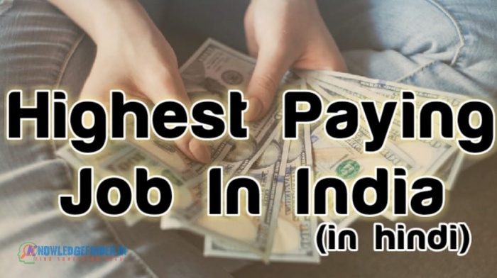 Top 10 Highest Paying Job In India